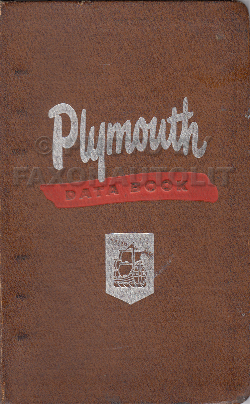 1952 Plymouth Data Book Original