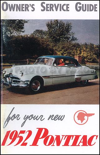 1952 Pontiac Owners Manual Reprint