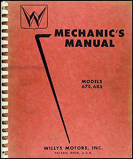 1952 Willys Aero Car Repair Manual Original