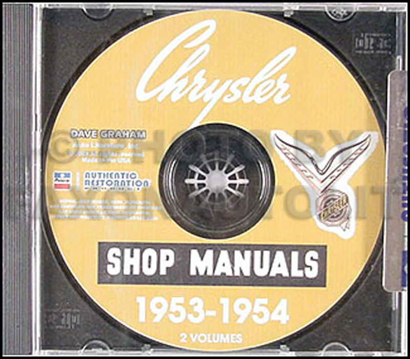 1953-1954 Chrysler Shop Manual on CD-ROM