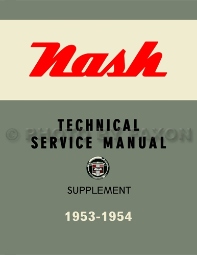 1953-1954 Nash Shop Manual Reprint Supplement