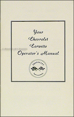 1953-1954-1955 Corvette Owner's Manual Reprint