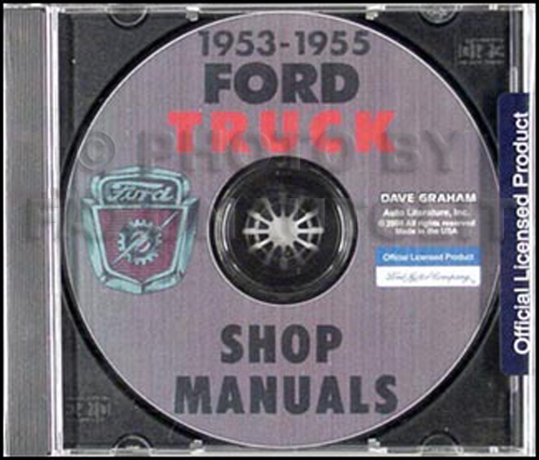 1953-1955 Ford Truck Shop Manual CD-ROM