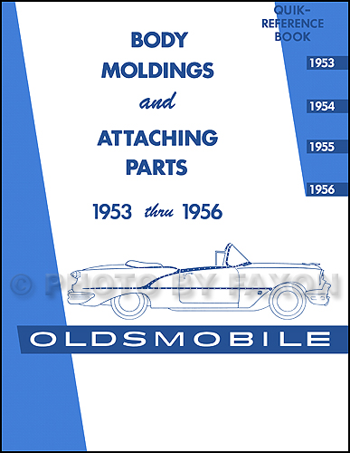 1953-1956 Oldsmobile Body Molding and Clips Parts Catalog Reprint
