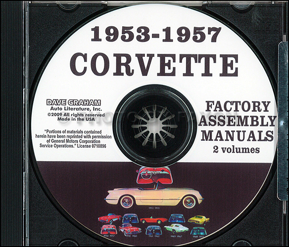 1953-1957 Chevrolet Corvette Assembly Manuals on CD-ROM