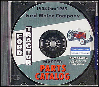 CD 1953-1959 Ford Tractor Illustrated Parts Catalog NAA 600-1801