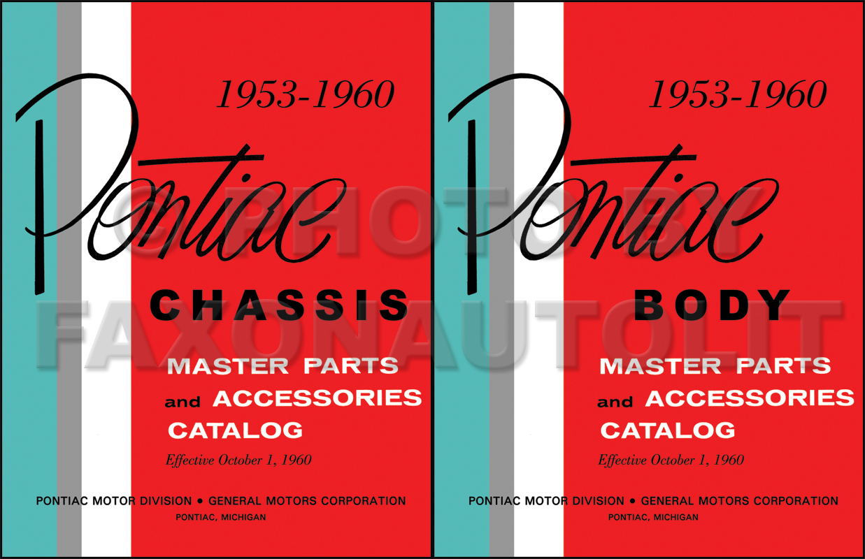 1953-1960 Pontiac Illustrated Master Parts Catalog Reprint