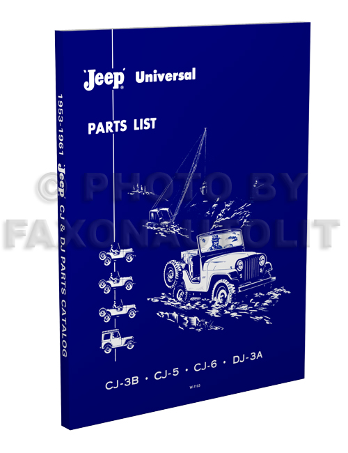1953-1961 Jeep CJ and DJ Parts Book Reprint