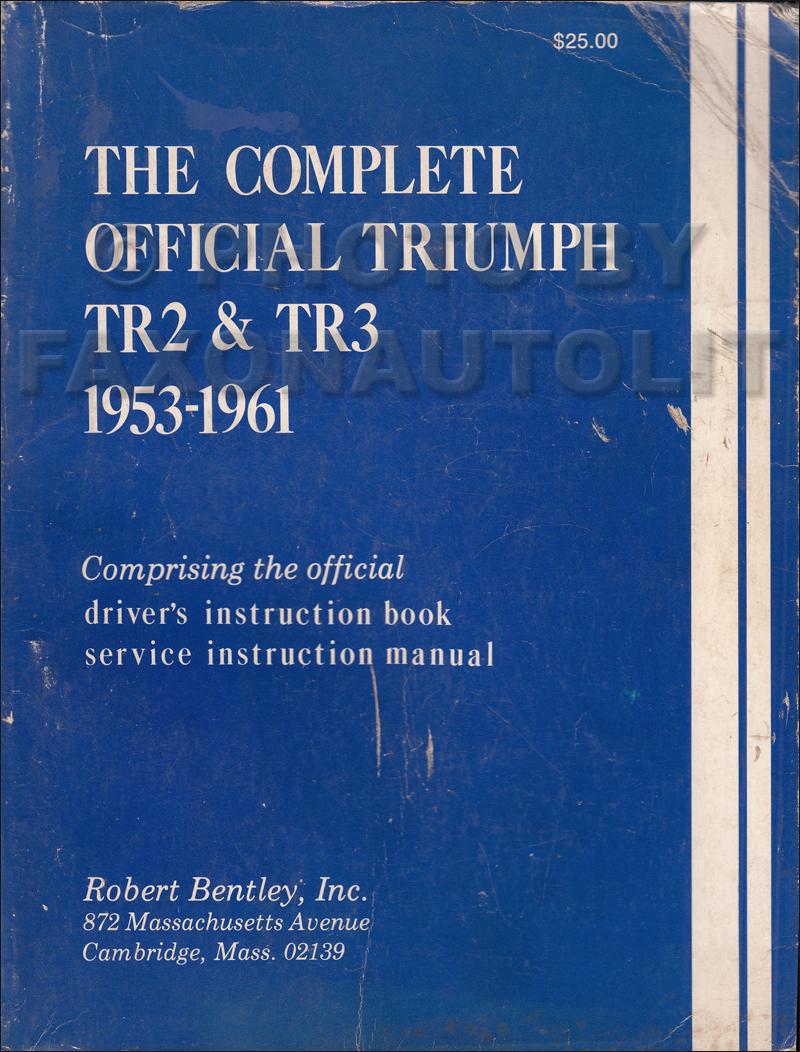 1954-1961 Triumph TR2, TR3, & TR3A Shop Manual Reprint