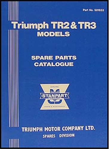 1953-1961 Triumph TR2 & TR3 Parts Book Reprint