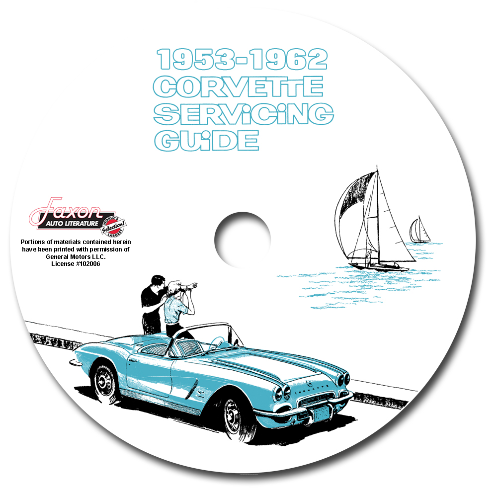 1953-1962 Corvette Servicing Guide CD-ROM