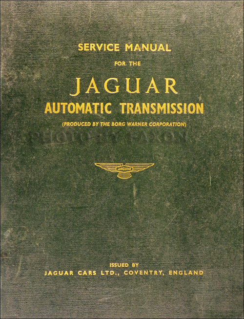 1953-1965 Jaguar Automatic Transmission Repair Shop Manual Original