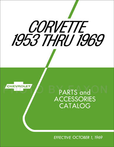 1953-1969 Chevrolet Corvette Parts Book Reprint