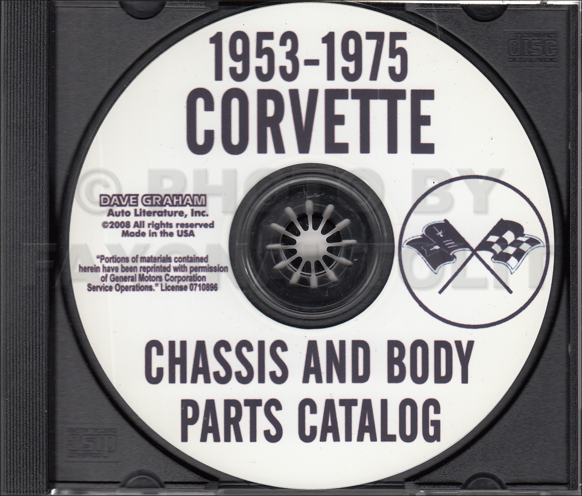 1963-1975 Chevrolet Corvette CD-ROM Parts Catalog