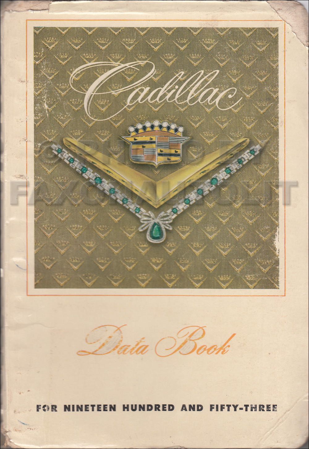 1953 Cadillac Data Book Original