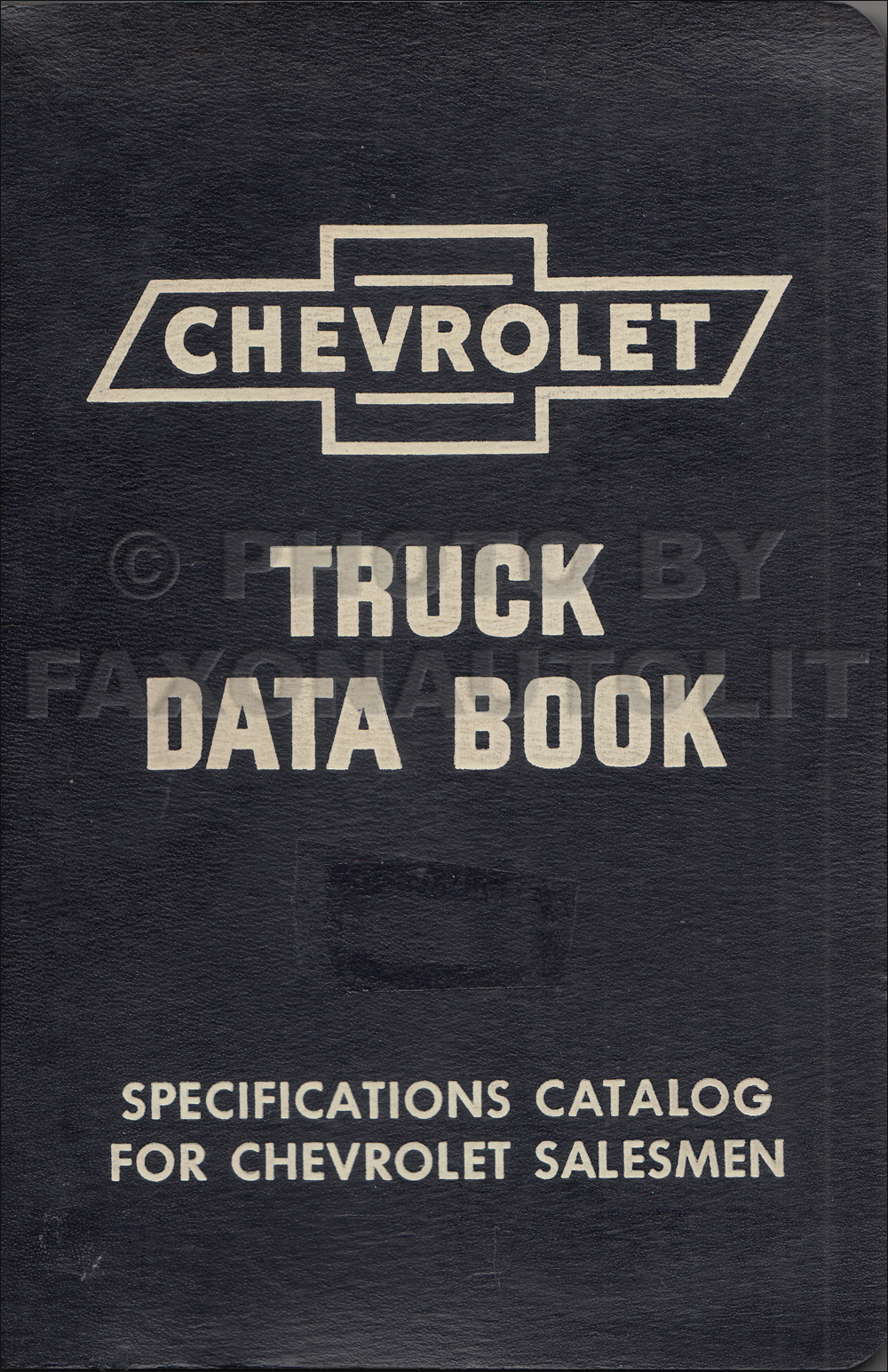 1953 Chevrolet Truck Data Book Original