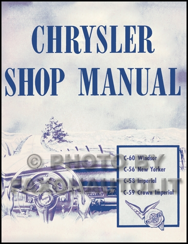 1953 chrysler repair shop manual reprint 1958 Chrysler New Yorker