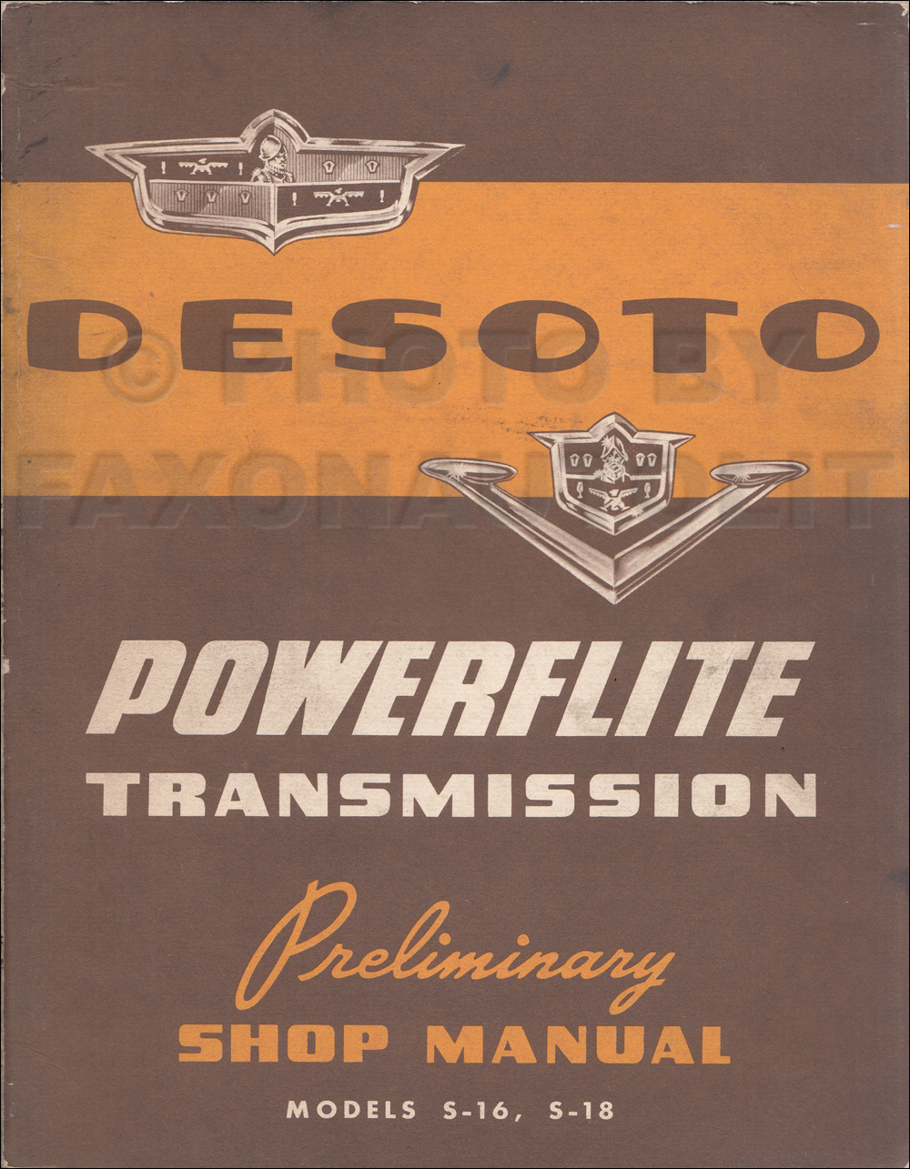 1953 DeSoto De Soto Powerflite Preliminary Repair Manual Original