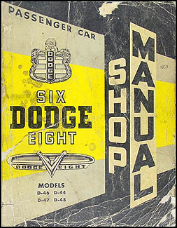 1953 Dodge Car Shop Manual Original