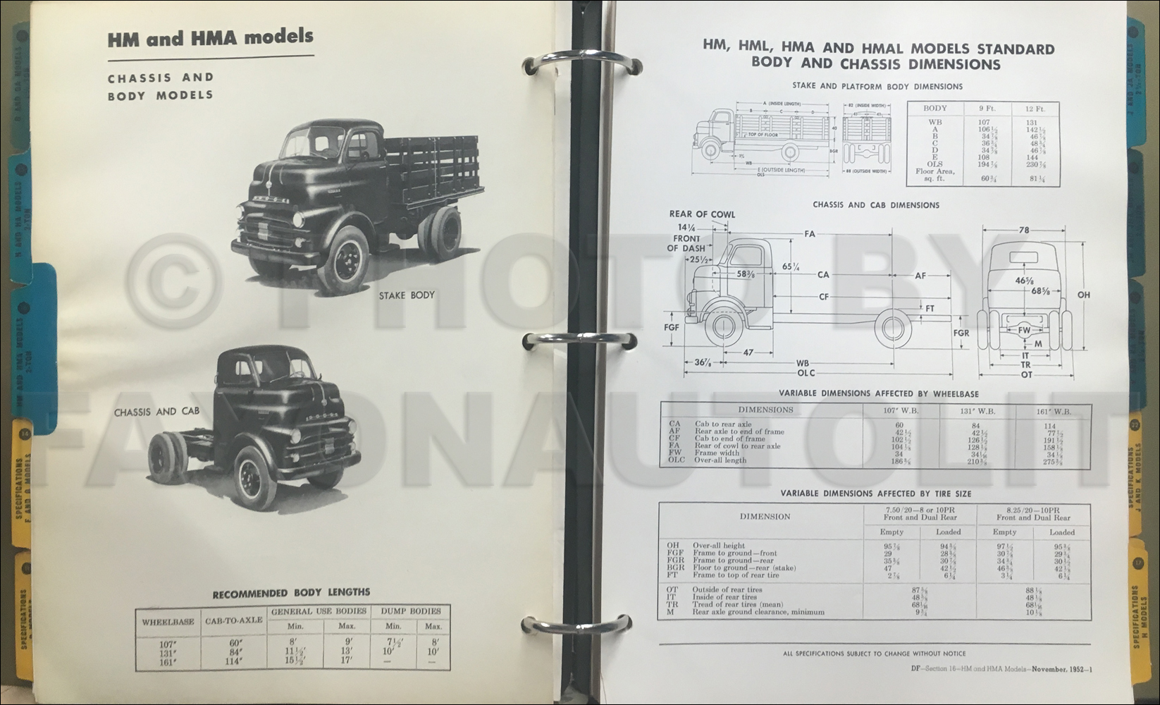 1953 Dodge Truck Sales Album Original