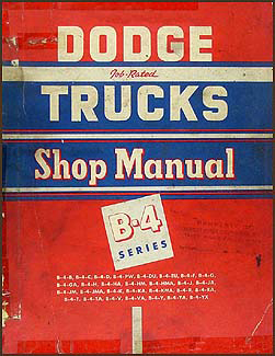 1953 Dodge Truck Shop Manual Original