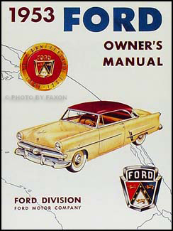 1952 1954 Ford Car Wiring Diagram Manual Reprint