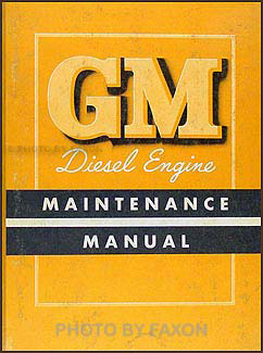 1953-1954 GMC  Diesel Engine Repair Manual Original