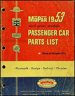 1953 Mopar Parts Book Original
