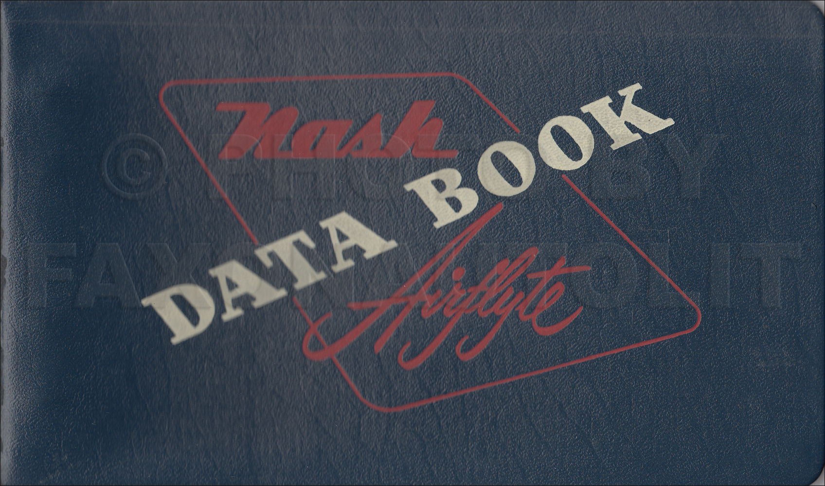 1953 Nash Data Book Original