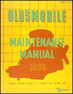 1953 Oldsmobile CANADIAN Repair Manual Original