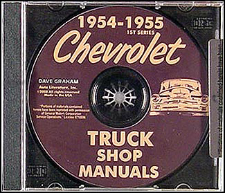 1954-1955 1st Series Chevrolet Truck Shop Manual on CD