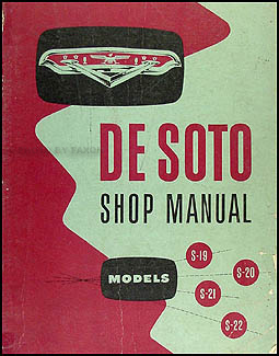 1954-1955 DeSoto Shop Manual Original