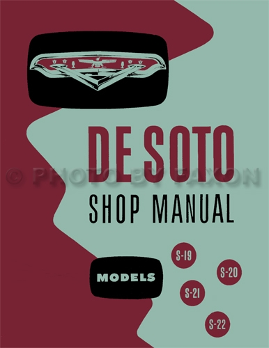 1954-1955 DeSoto Shop Manual Reprint