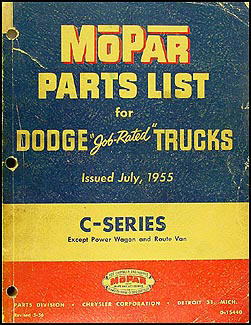 1954-1955 Dodge Pickup and Truck Parts Book Original