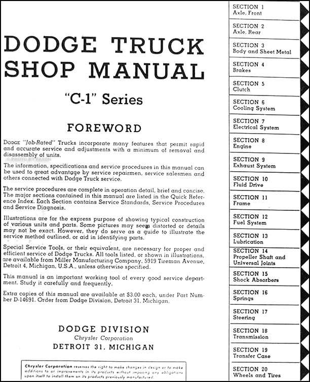 1954-1955 Dodge C-1 Truck Repair Shop Manual Reprint 2 Volume Set on dodge pickup wiring diagram, 1956 dodge truck radiator, 05 dodge truck tail light diagram, 1956 dodge truck engine, 1956 dodge truck fuel tank, 73 dodge charger wiring diagram, 1956 dodge truck parts, 1956 dodge truck dimensions, 1956 dodge truck chassis, 1956 dodge truck water pump, 1948 chevrolet wiring diagram, pickup truck diagram, 1956 dodge truck door,