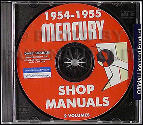 CD-ROM 1954-1955 Mercury Shop Manual Set