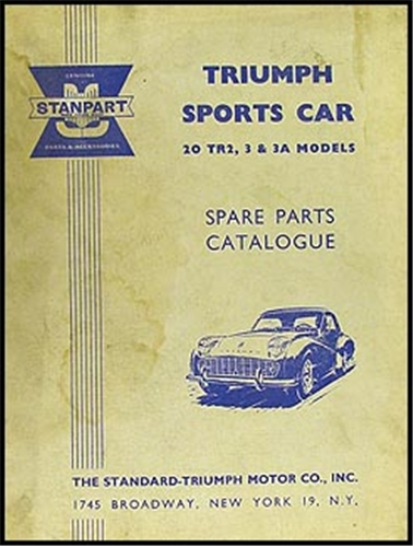 1954-1961 Triumph TR2 TR3 TR3A Parts Book Original