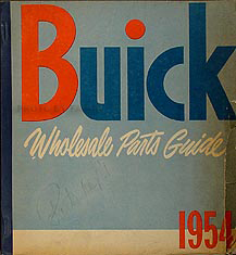 1949-1953 Buick Wholesale Parts Book Original