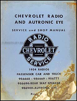 1954 Chevy Radio & Autronic Eye Manual Original Car, Corvette & Truck