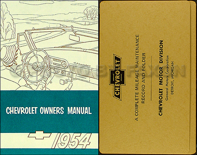 19491954 Chevrolet Car Repair Shop Manual Originalrhfaxonautoliterature: 1954 Chevy 210 Wiring Diagram At Gmaili.net