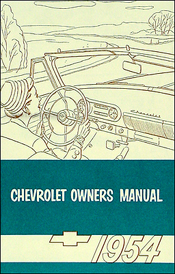 1954 Chevrolet Car Reprint Owner's Manual 54 Chevy