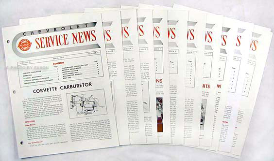 1954 Chevrolet Service News reprint (10 issues on 1954, 2 on 1955)