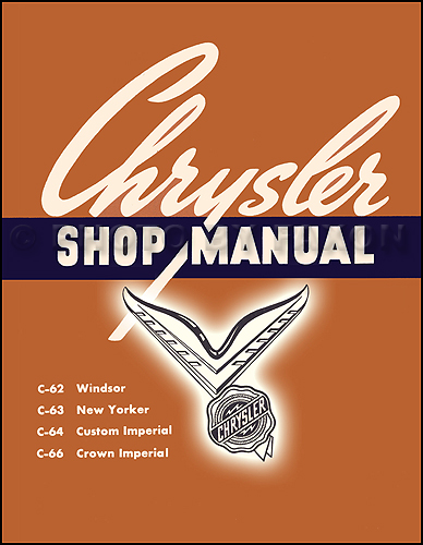 1954 Chrysler Repair Manual Reprint 2 Volume Set