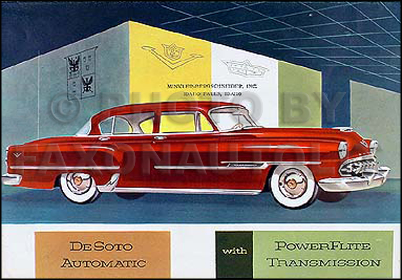 1954 DeSoto Original Color Sales Brochure