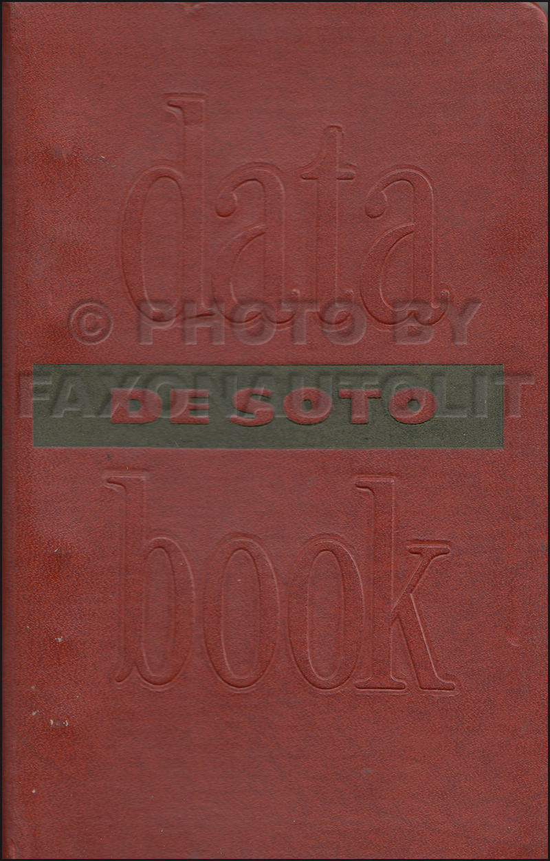 1954 DeSoto Data Book Original