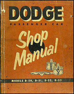 1954 Dodge Car Shop Manual Original