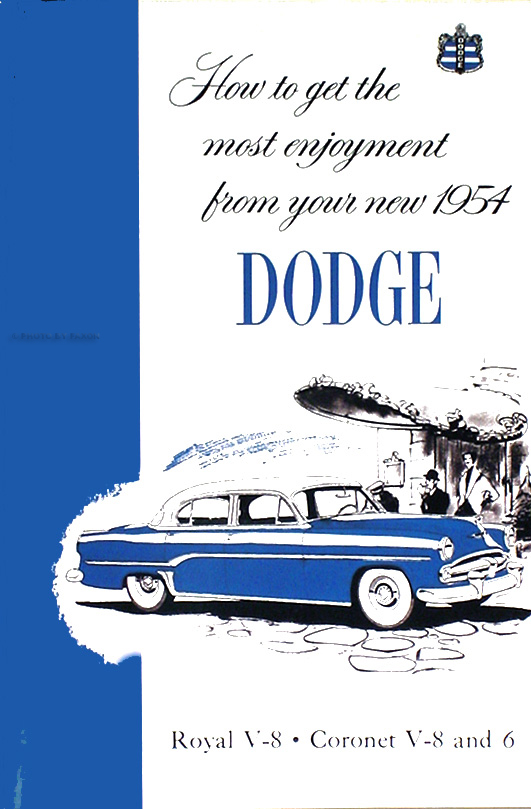 1954 Dodge Car Reprint Owner's Manual 54