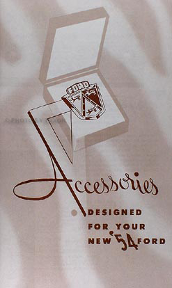 1954 Ford Car Accessories Catalog Reprint with illustrations
