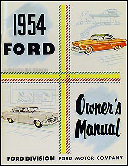 1954 Ford Car Owner's Manual Reprint