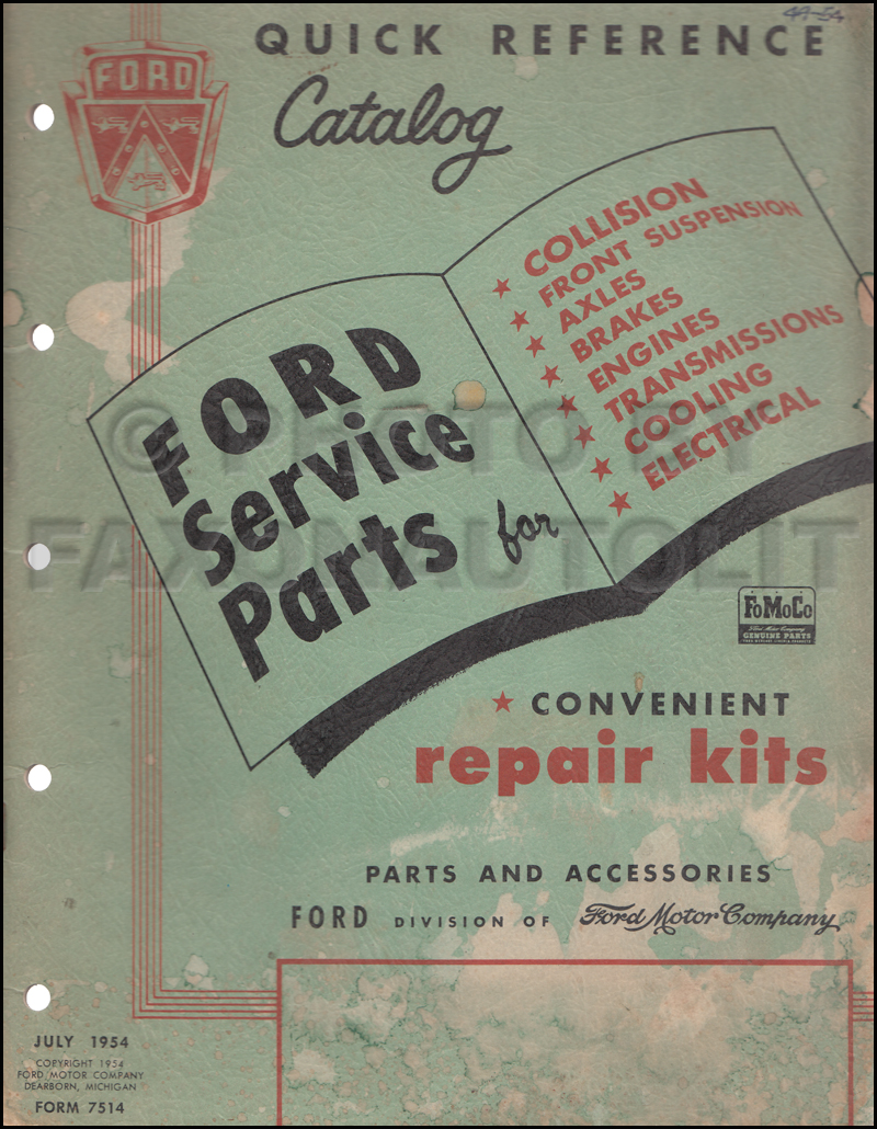 1949-1954 Ford Quick Reference Parts Catalog Original
